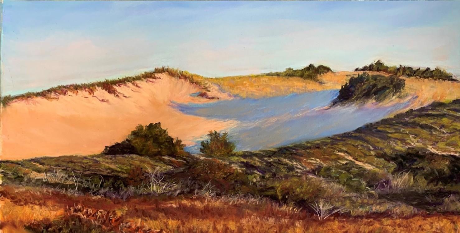 """Dune Bowl Shadows"", Soft Pastel, 8.5""x17.5"""