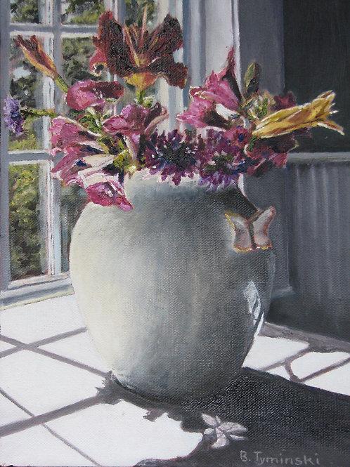Fruit of My Garden, Barbara Tyminski, Oil - Oil on canvas, 12 x 9