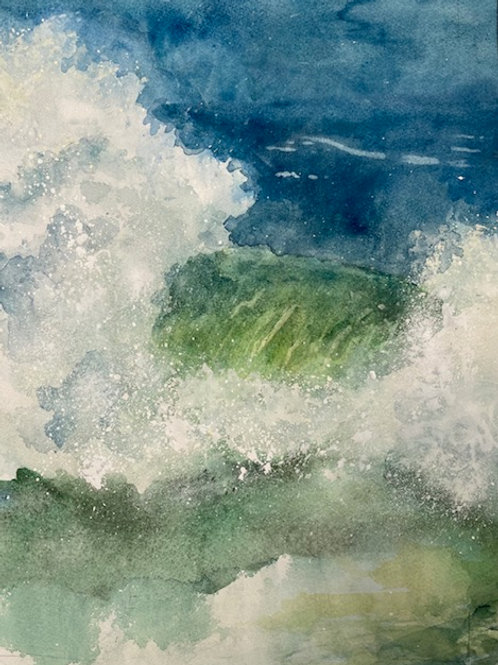 Evening Wave II, Karen Pinard, Watercolor - , 15 x 12