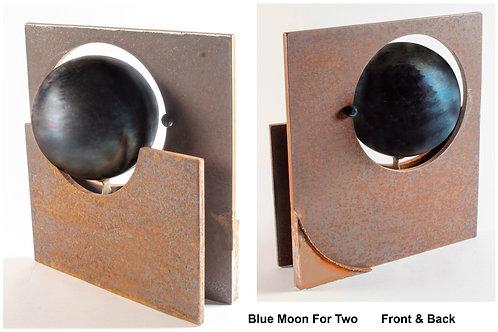 Blue Moon for Two, Douglass Gray, Sculpture - steel, 17 x 15