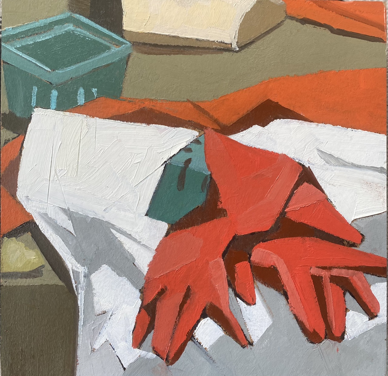 """""""Glove You"""", Oil, 8""""x8"""""""