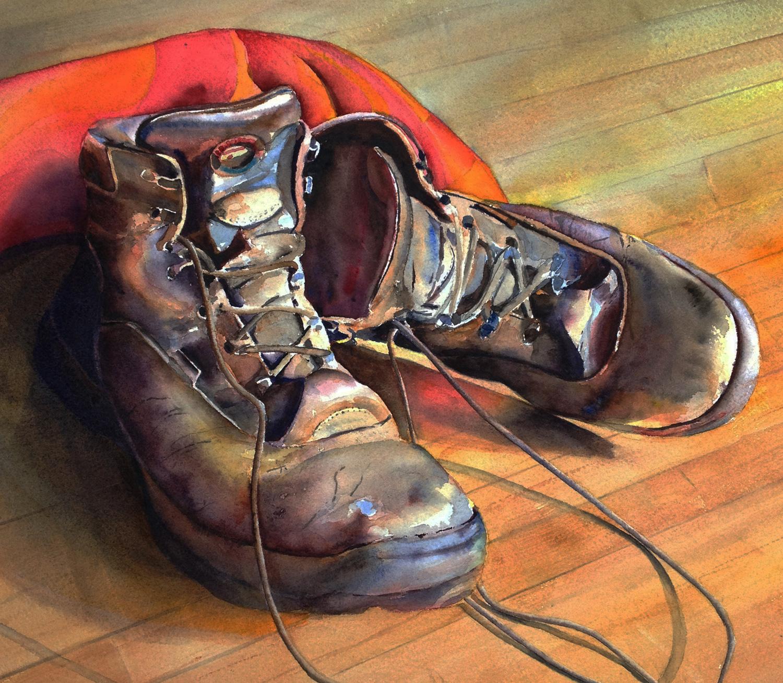"""""""Murphy's Dancing Shoes"""", Watercolor, 12""""x16"""""""
