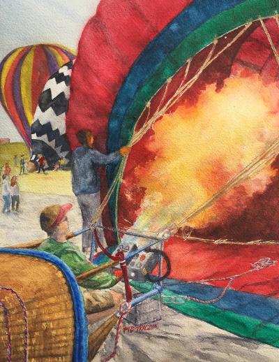 """Flaming"", Watercolor, 16""x12"""