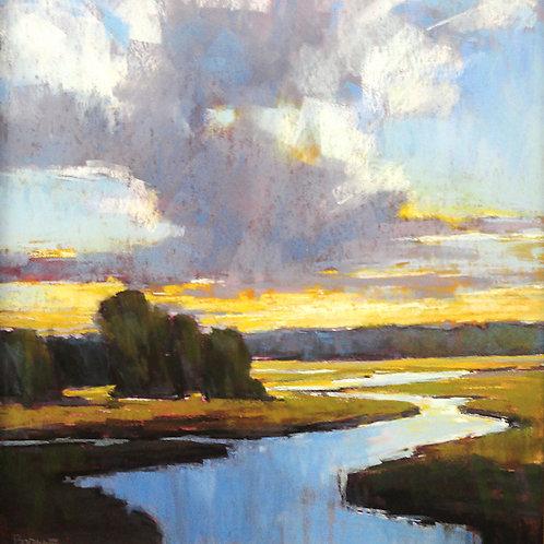 A River Runs, Christine Bodnar, Pastel - , 17 x 16