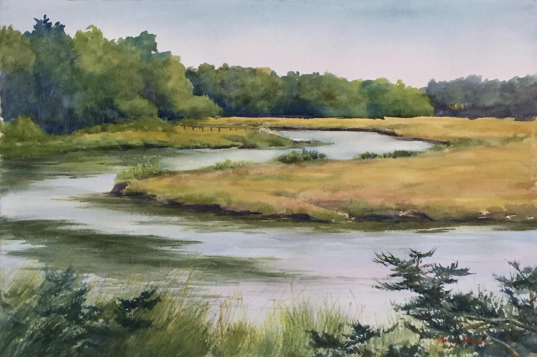 """Riverbend"", Watercolor, 14.5""x21.5"""