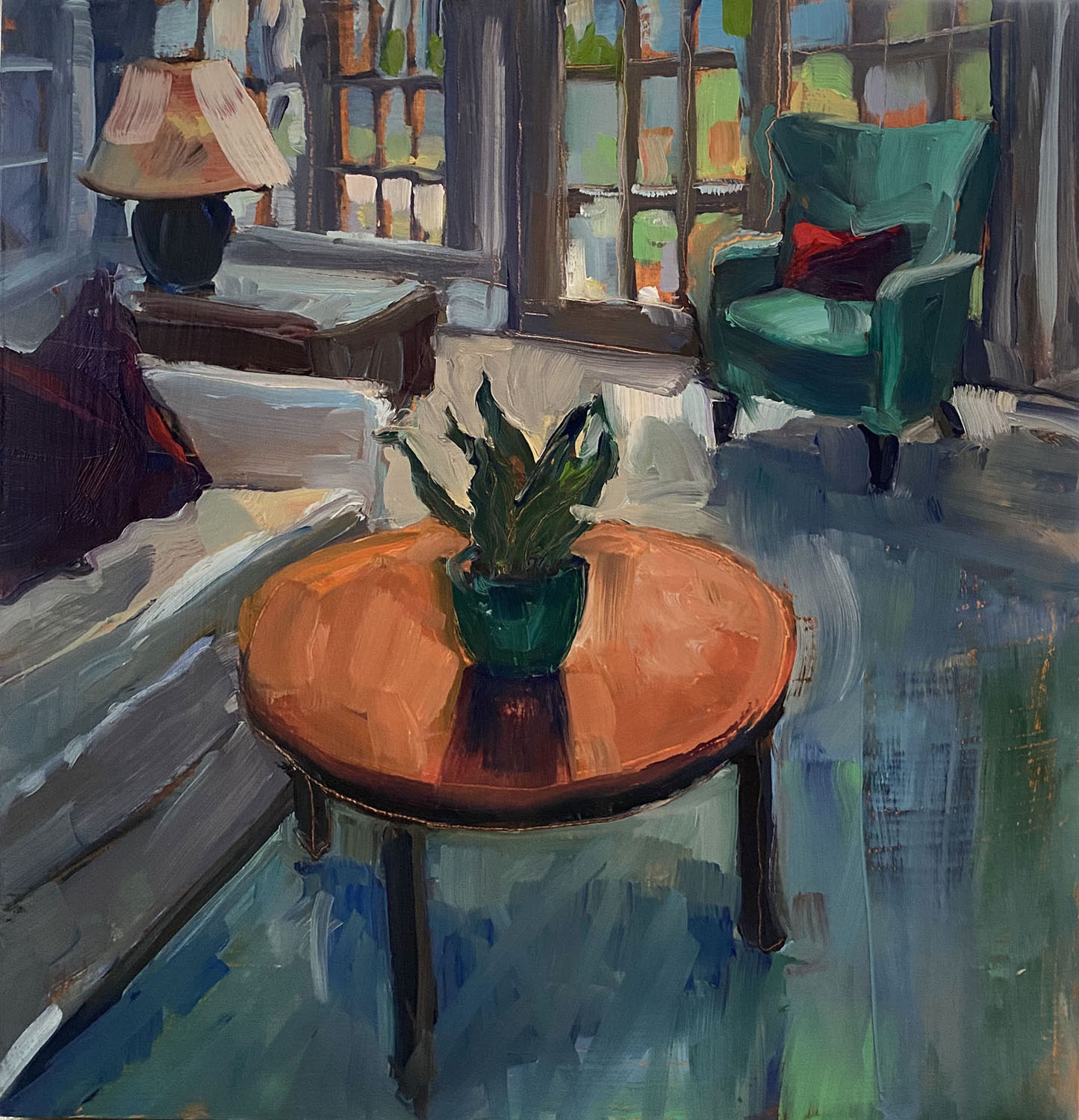 """""""My Home"""", Oil, 12""""x12"""""""
