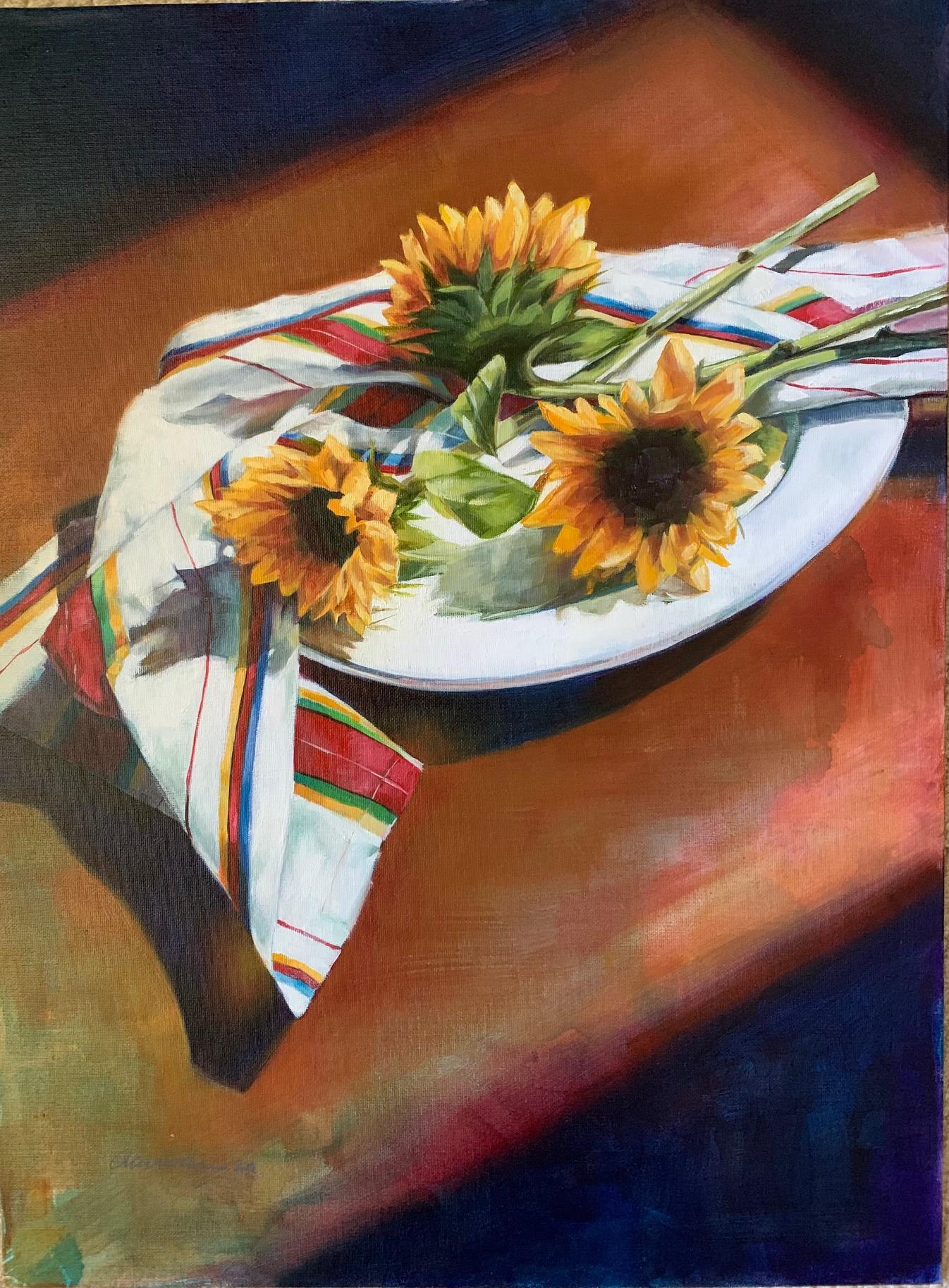 """Sunflowers"", Oil, 24""x18"""