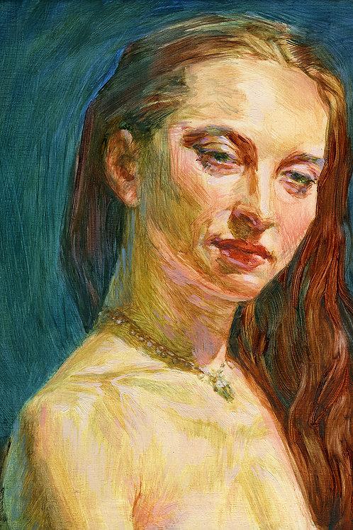 Emily, Lisa French, Oil -  ,  8.5 x 6
