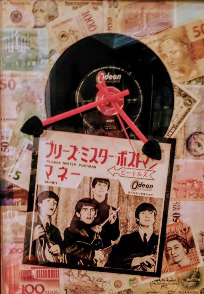 """Yen for Money"", Mixed Media, 15.5""x11.5"""