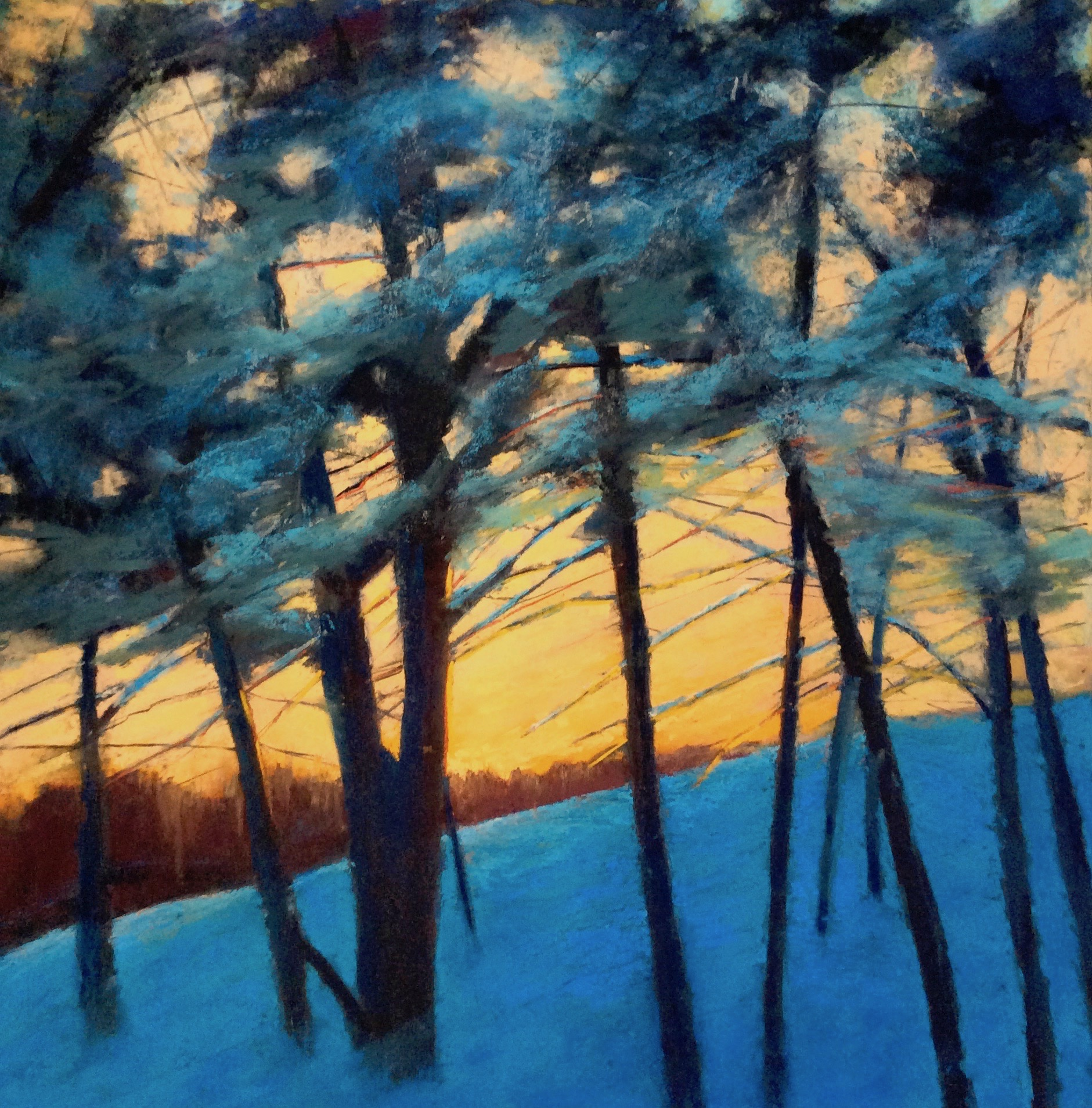 """""""Under the Cover of Winter"""", 24""""x24"""""""