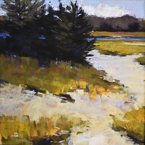 Follow The Blue, Christine Bodnar, Pastel - , 16 x 16