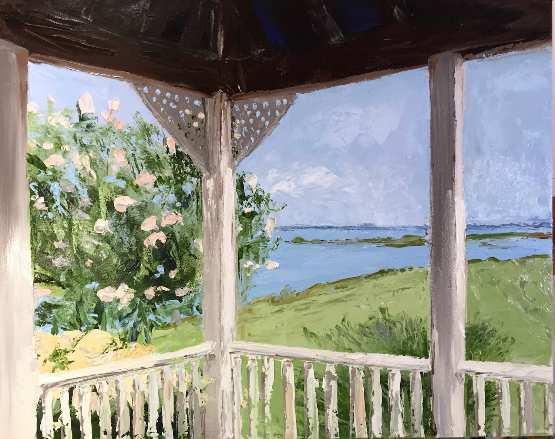 """Porch View"", Oil, 30""x36"""