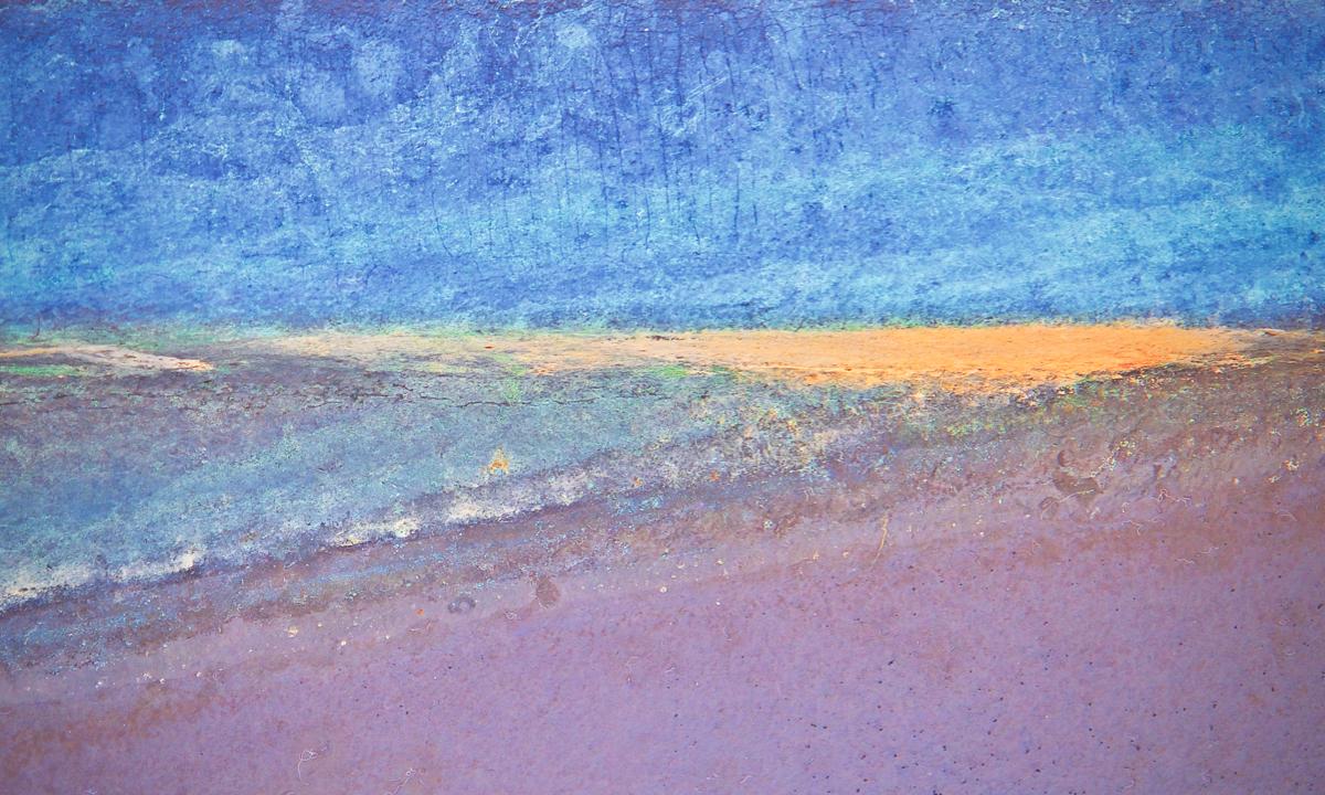 """Sandbar"", Photography, 12""x20"""