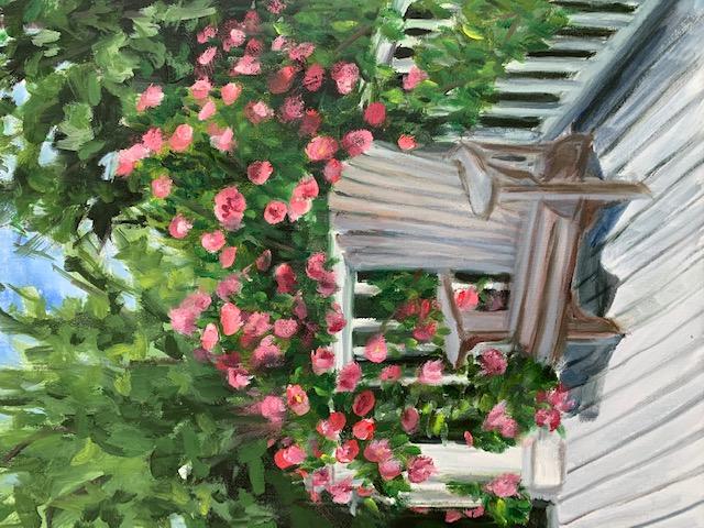 """""""June Roses 2020"""", Oil, 14""""x11"""""""