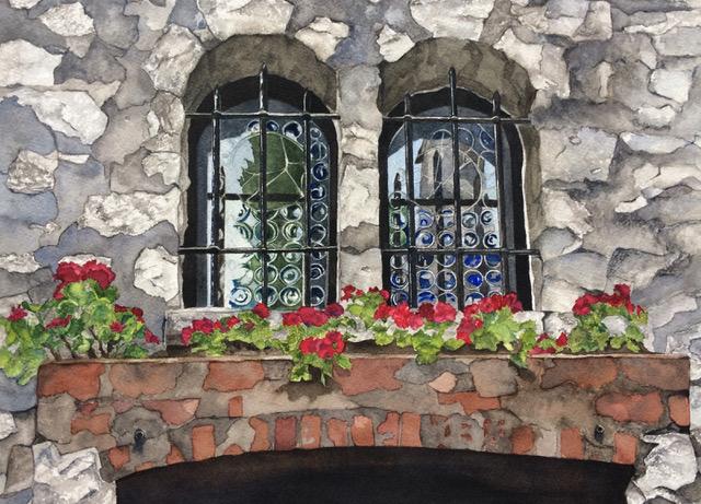"""Rock Garden"", Watercolor, 9.5""13.5"""