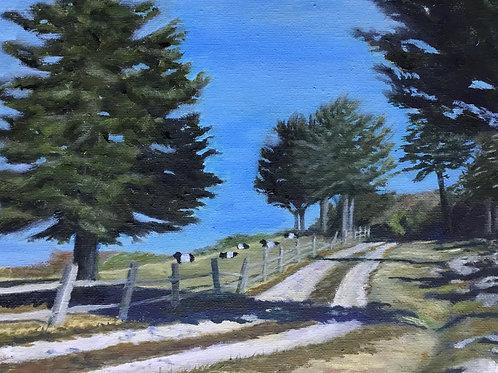Weir Farm, Karen Mack, Oil - , 10 x 8