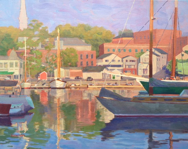 """Harbor Kaleidoscope"", Oil, 16""x20"""