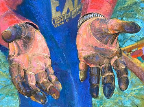 Alberts Magical Hands, Jory Mason, Pastel - pastel, 14 x 18
