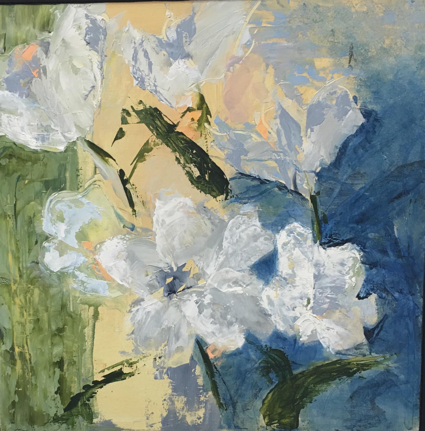 """""""White Blossoms"""", Oil, 12""""x12"""""""