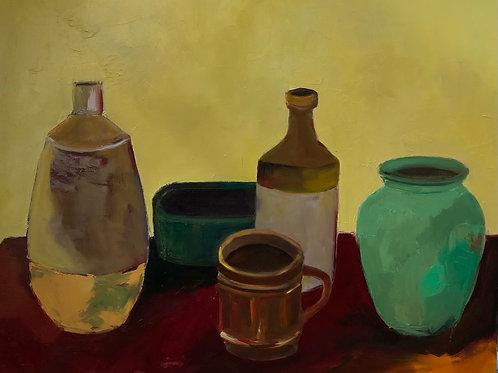 Morning Coffee, Susan Adler, Oil - oil on canvas, 24 x 30