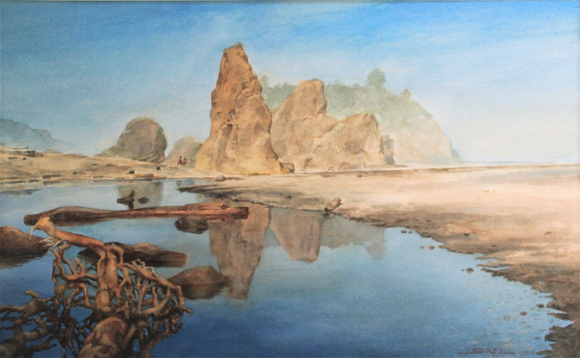 """""""Ruby Beach Monuments"""", Watercolor, 15""""x22"""""""