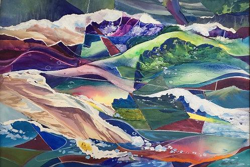 Turbulence, Nancy Howell, Watercolor, 19 x 27