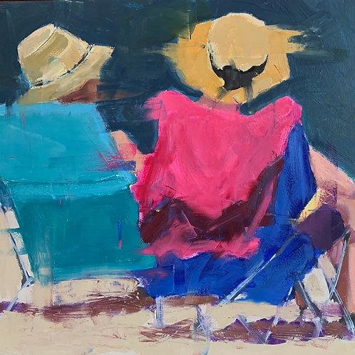 Side by Side, Nancy Colella, Oil - , 12 x 12