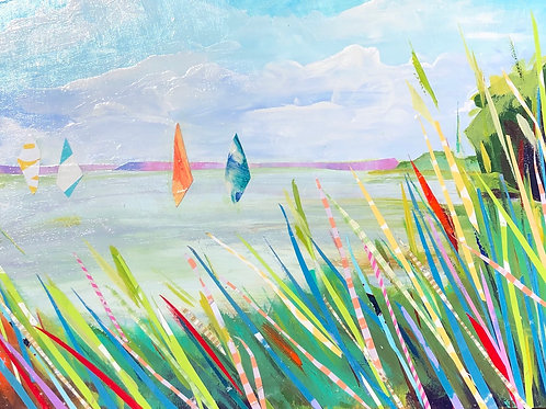 Summerwind, Barbara Chaisson, Mixed Media -  ,  16 x 12