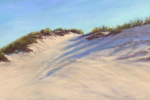Beautiful Dune Cleavage, Mary Rest, Pastel, 9 x 18