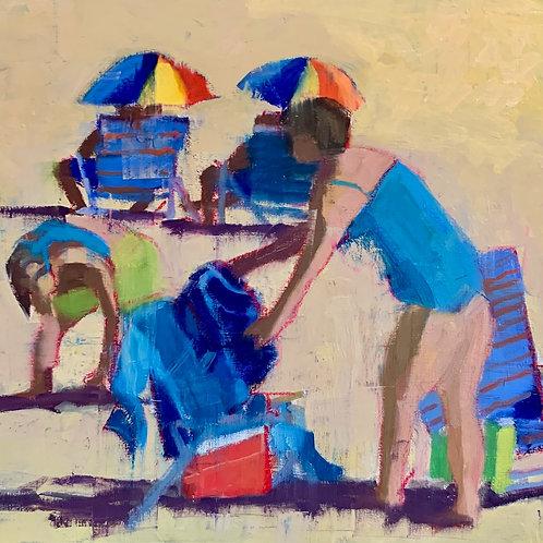 Sun Seekers, Nancy Colella, Oil - , 16 x 16