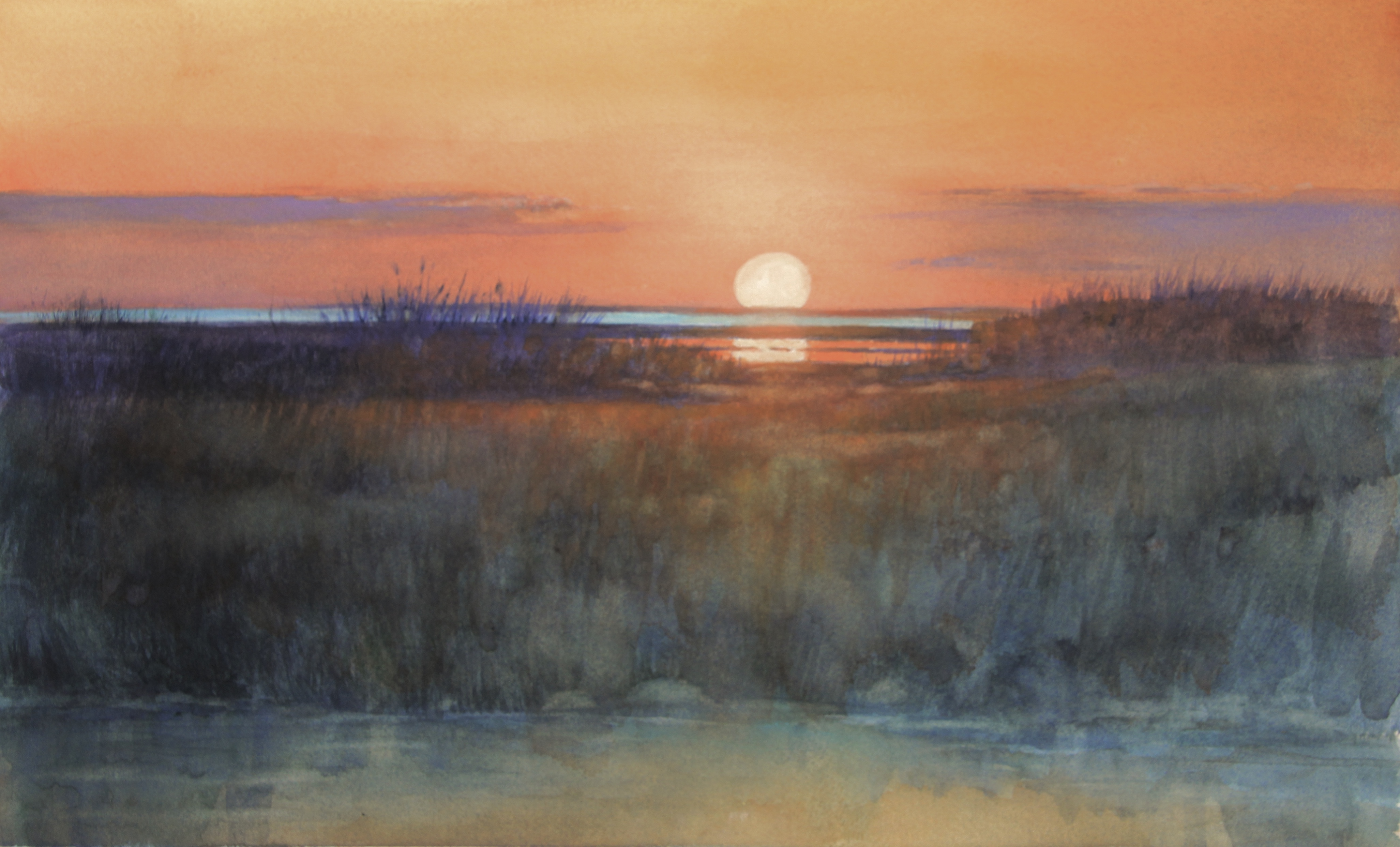 """Cape Sunset"", Watercolor, 10""x15"""