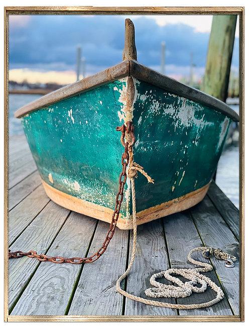 Green Boat at Green Harbor, Jill Mason, Photography, 30 x 34