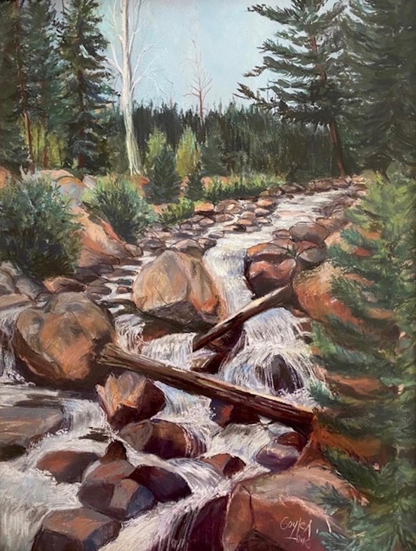 """""""Mountain Stream"""", 25""""x19"""""""