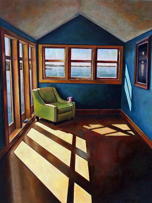 Room Full of Blues, Laura Jennings, Oil - oil on panel, 18 x 14