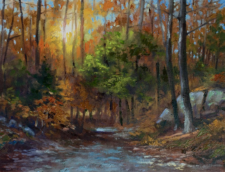 """""""Autumn Sunlight Wompatuck"""", Oil, 12""""x16"""""""