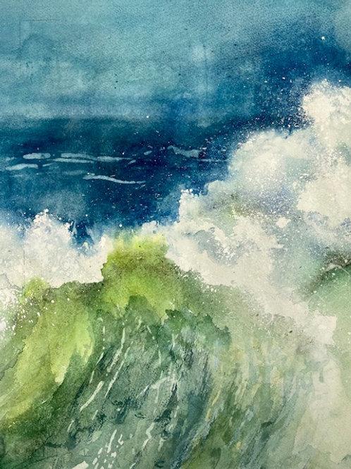 Evening Wave I, Karen Pinard, Watercolor - , 15 x 12