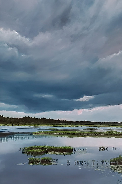 Calm Before the Storm, Mary Gilmartin, Oil -  ,  36 x 18