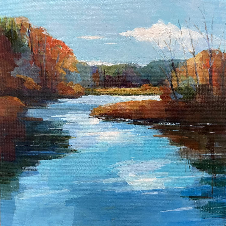 """Jacob's Pond"", Acrylic, 10""x10"""