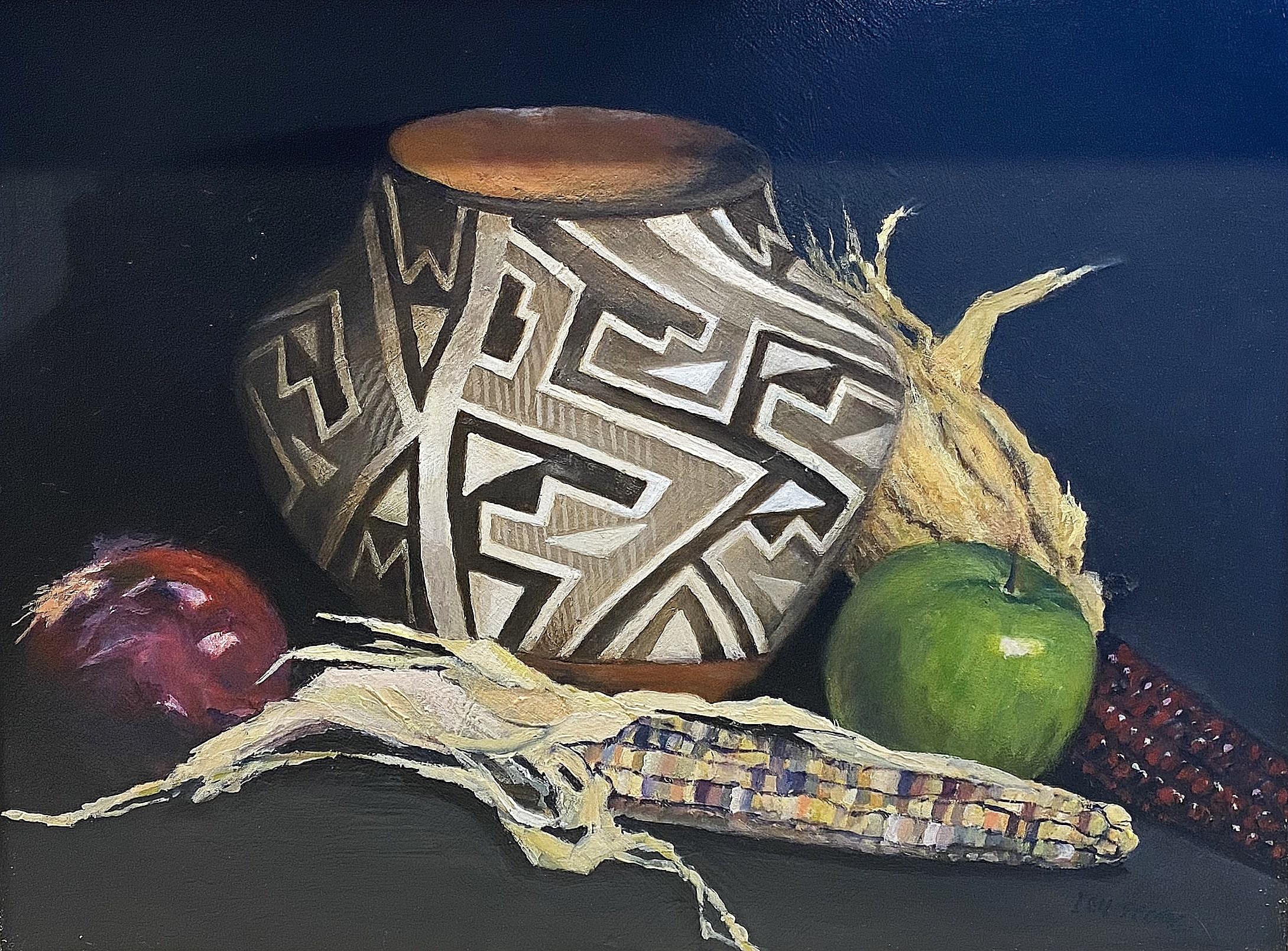 """""""Acoma Pottery"""", Oil, 11""""x14"""""""