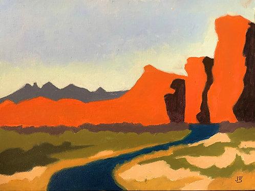 Salt River Reservation, Jane Seoane, Oil - , 9 x 12