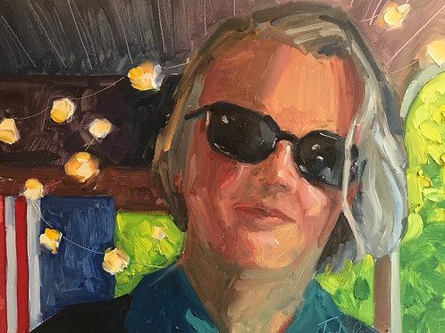 July in Shades, Jody Regan, Oil - oil on board, 9 x 12