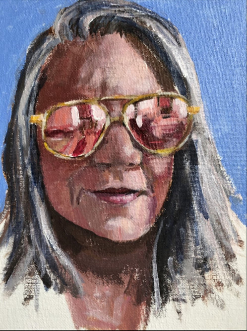 Selfie With Sunglasses, Kelley MacDonald, Acrylic - , 8 x 6