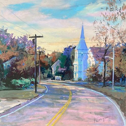Church Light, Susan Kerrigan, Pastel - pastel, 18 x 24