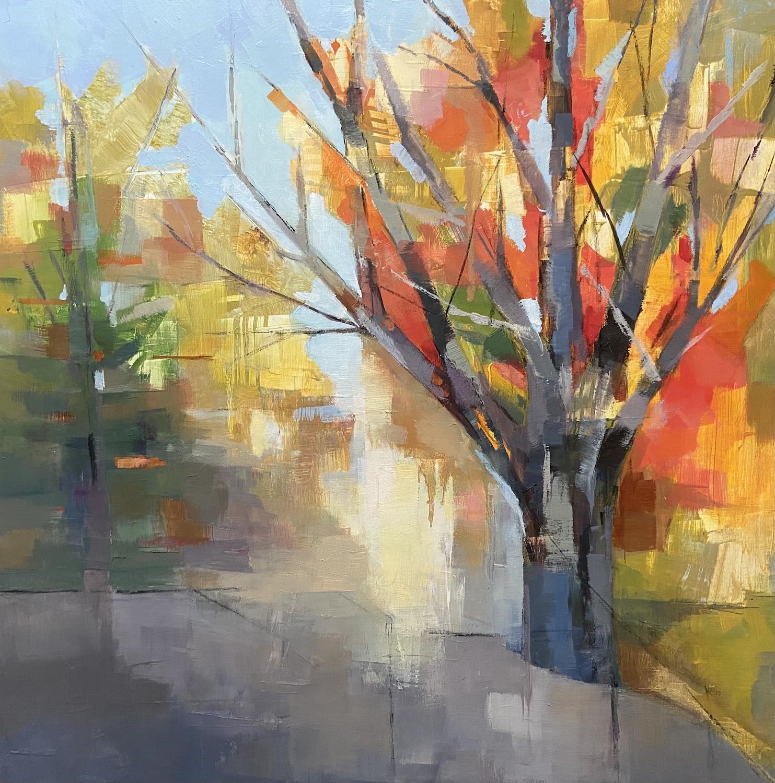 """Autumn Sonata"", Oil, 16""x16"""