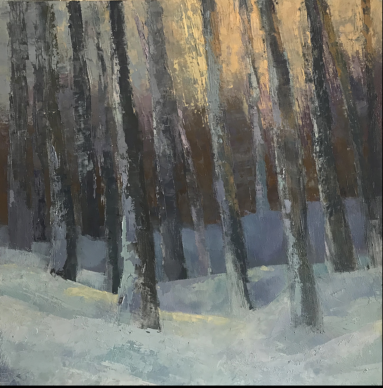 """Winter Light"", Oil, 12""x12"""