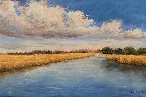 River Ride, Donna Rossetti-Bailey, Pastel - , 12 x 24