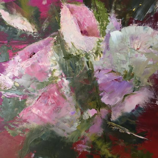 """Flowers"", Oil, 10""x10"""