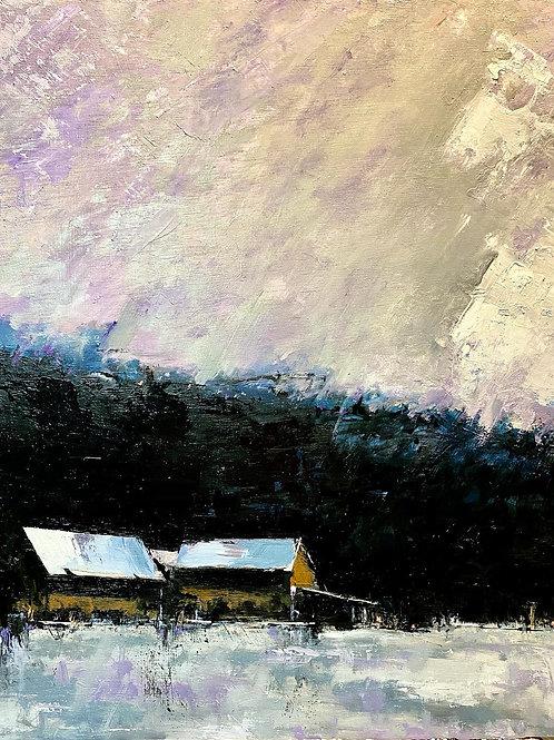 Winter Squall, John Neidecker , Oil - , 22 x 16