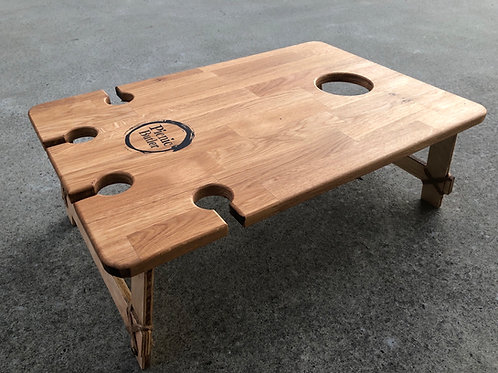 "Oak ""Vino"" 4-Wineglass Table"