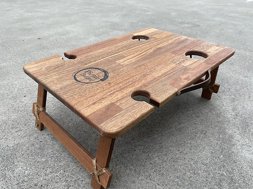 """Spotted Gum """"Banquet"""" 2-Wineglass 2-Beer Table"""